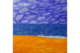 Day at the Beach - 2012 - Oil on Canvas - 36 x 36 in. (91.4 x 91.4 cm)