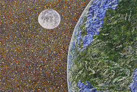 From the Earth to the Moon - 2012 - Oil on Canvas - 30 x 40 in. (76.2 x 101.6 cm)