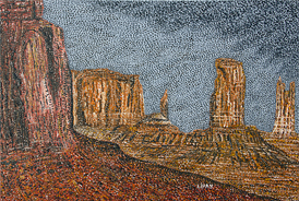 Monument Valley - 2012 - Oil on Canvas - 30 x 40 in. (76.2 x 101.6 cm)