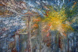 Seattle - 2013 - Oil on Canvas - 36 x 48 in. (91.4 x 121.9 cm)