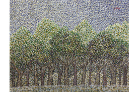Sixteen Trees - 2015 - Acrylic on Canvas - 16 x 20 in. (40.6 x 50.8 cm)