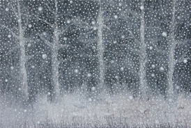 Snow Falling - 2016 - Oil on Canvas - 24 x 36 in. (61 x 91.4 cm)